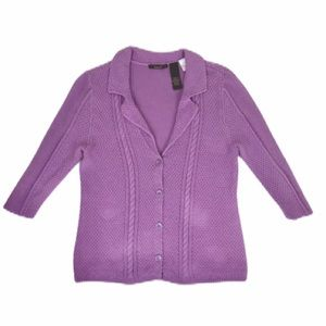 Heather B Cardigan Lavender Sweater 💜